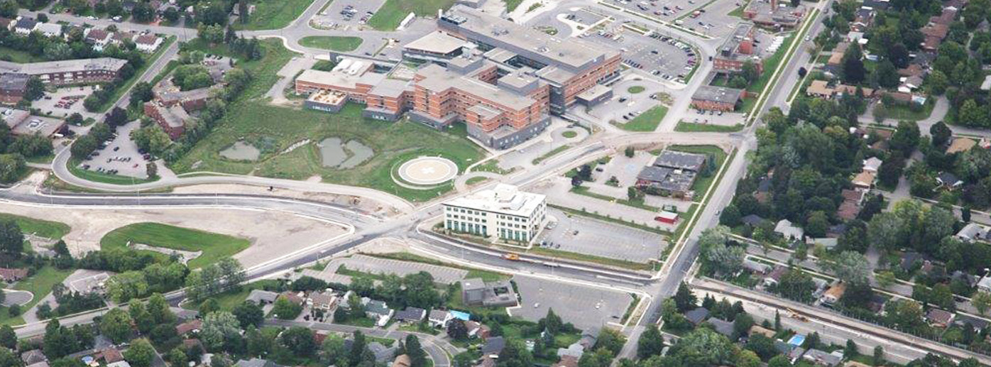 Photo of aerial view of clinic facility