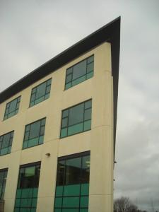 Southeast corner of building